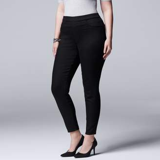 Vera Wang Plus Size Simply Vera Pull-On Jeggings