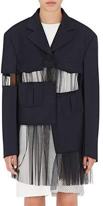 Maison Margiela Women's Tulle-Detailed Wool Coat