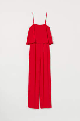 H&M Creped Jumpsuit - Red