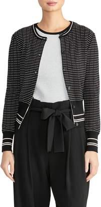 Rachel Roy Collection Stripe Cardigan