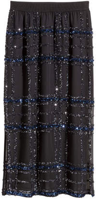 H&M Skirt with Sequins - Black