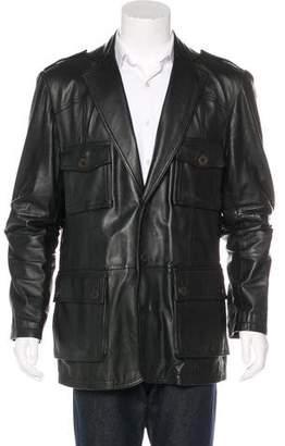 Just Cavalli Leather Field Jacket