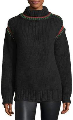Moncler Maglione Sweater with Stitching