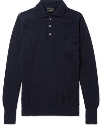 Emma Willis - Cashmere Polo Shirt - Men - Navy