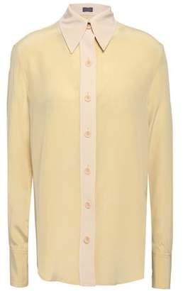 Joseph New Garcon Two-tone Silk Crepe De Chine Shirt