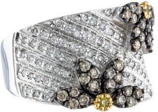 Le Vian Floral Diamond Band $625 thestylecure.com