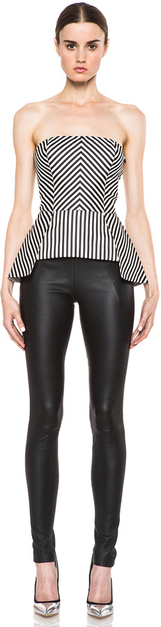Sass & Bide Bad Seeds Poly-Blend Strapless Top in Black & White Stripe