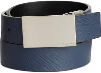 Calvin Klein Saffiano Leather Reversible Dress Belt