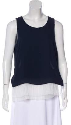 Elizabeth and James Sleeveless Scoop Neck Top