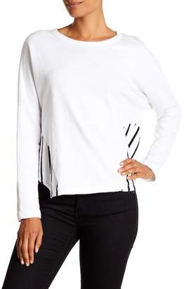 Stateside Stripe Side Terry Pullover