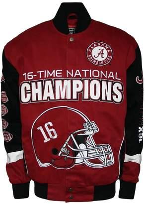 Men's Franchise Club Alabama Crimson Tide Commemorative Twill Jacket