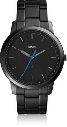 Fossil The Minimalist Slim Three-Hand Black Stainless Steel Men's Watch