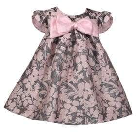 Iris & Ivy Little Girl's Floral Jacquard Bow Dress