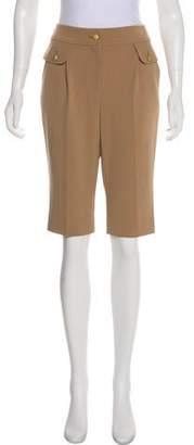 St. John Mid-Rise Knee-Length Shorts w/ Tags