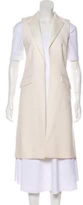Pallas Satin-Trimmed Wool Vest