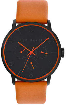 Ted Baker Mens Multifunction Leather Strap Watch 10023490