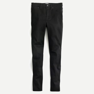 "J.Crew Petite 10"" highest-rise toothpick jean in true black"