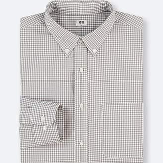 Uniqlo Men's Extra Fine Cotton Checked Long-sleeve Shirt