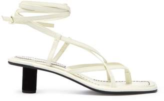 Proenza Schouler Cylindrical Heel Leather Sandals - Womens - White