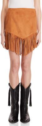 Semi-Couture Semicouture Leather Fringe Mini Skirt