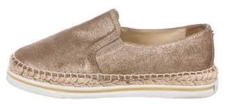 Jimmy Choo Leather Slip-On Sneakers