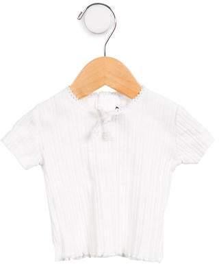 Lili Gaufrette Rib Knit Short Sleeve Top