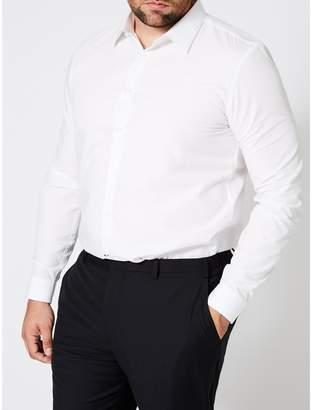Burton - Big & Tall White Skinny Fit Essential Shirt