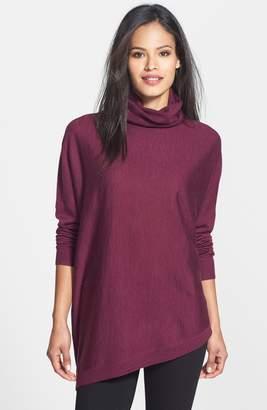 Eileen Fisher Merino Jersey Asymmetrical Turtleneck Sweater