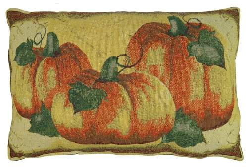 August Grove Brampton Crackle Pumpkin Tapestry Lumbar Pillow