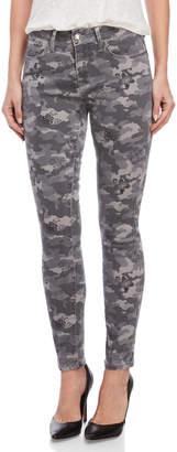 Seven7 Camo Floral Mid-Rise Ankle Jeans