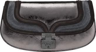 MCM Trisha Clutch In Foiled Leather
