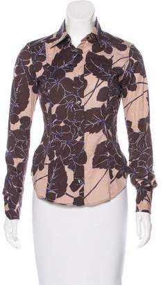 Etro Long Sleeve Button-Up Top