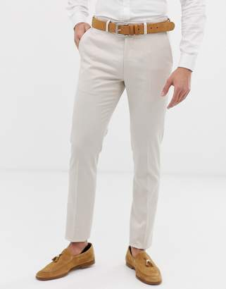 Celio skinny fit suit pant in tan