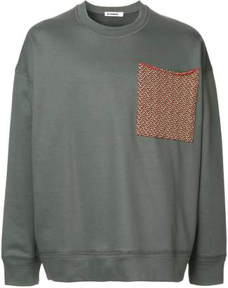Jil Sander large chest pocket sweatshirt