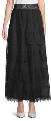 Valentino Lace Maxi Skirt