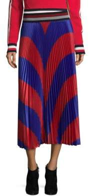 Tommy Hilfiger Tommy Colorblock Pleated Midi Skirt