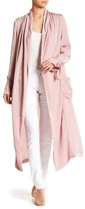 ASTR the Label Satin Trench Coat