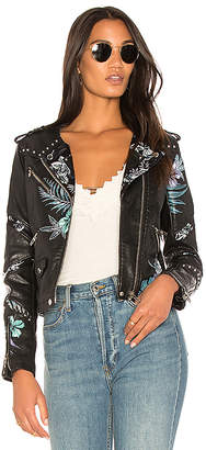 BLANKNYC Embroidered Moto Jacket in Black $168 thestylecure.com