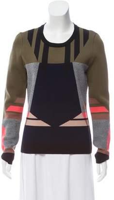 Jonathan Simkhai Intarsia Knit Long Sleeve Top