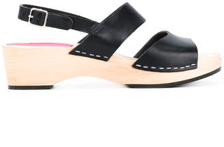 Swedish Hasbeens chunky heel sandals
