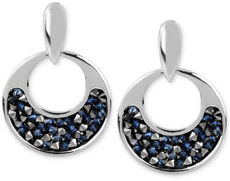 Kenneth Cole New York Silver-Tone Faceted Bead Round Drop Earrings
