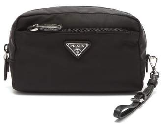 Prada Zip Around Cosmetics Case - Womens - Black