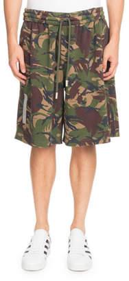 Off-White Oversized Camouflage-Print Shorts