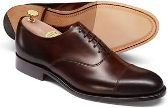 Charles Tyrwhitt Mahogany Made In England Oxford Shoe Size 11.5
