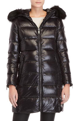 Karen Millen Hooded Down Coat Longline Coat