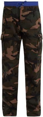 Valentino Camouflage-print cotton cargo trousers