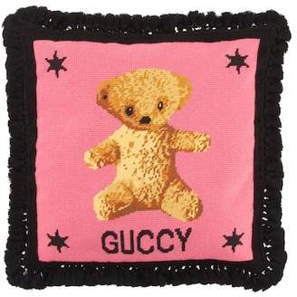 Gucci Embroidered needlepoint cushion
