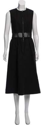 Ter Et Bantine Mesh-Back Midi Dress