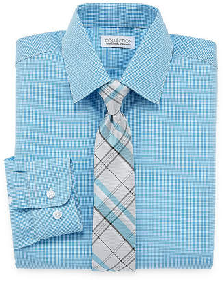 COLLECTION Collection by Michael Strahan Long Sleeve Shirt + Tie Set -Boys 8-20-Reg and Husky
