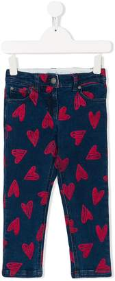 Stella McCartney heart printed jeans